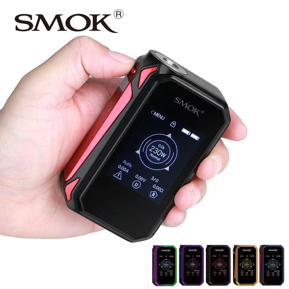 100% Original SMOK g-priv 2 230 W écran tactile TC boîte MOD No 18650 batterie Mod boîte Smok Mod G priv 2/G priv 2 vs glisser 2/Luxe Mod