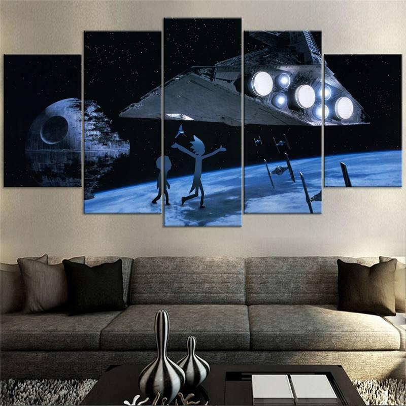 ⃝Decoración para el hogar lienzo poster Rick y Morty cartel Arte de ...