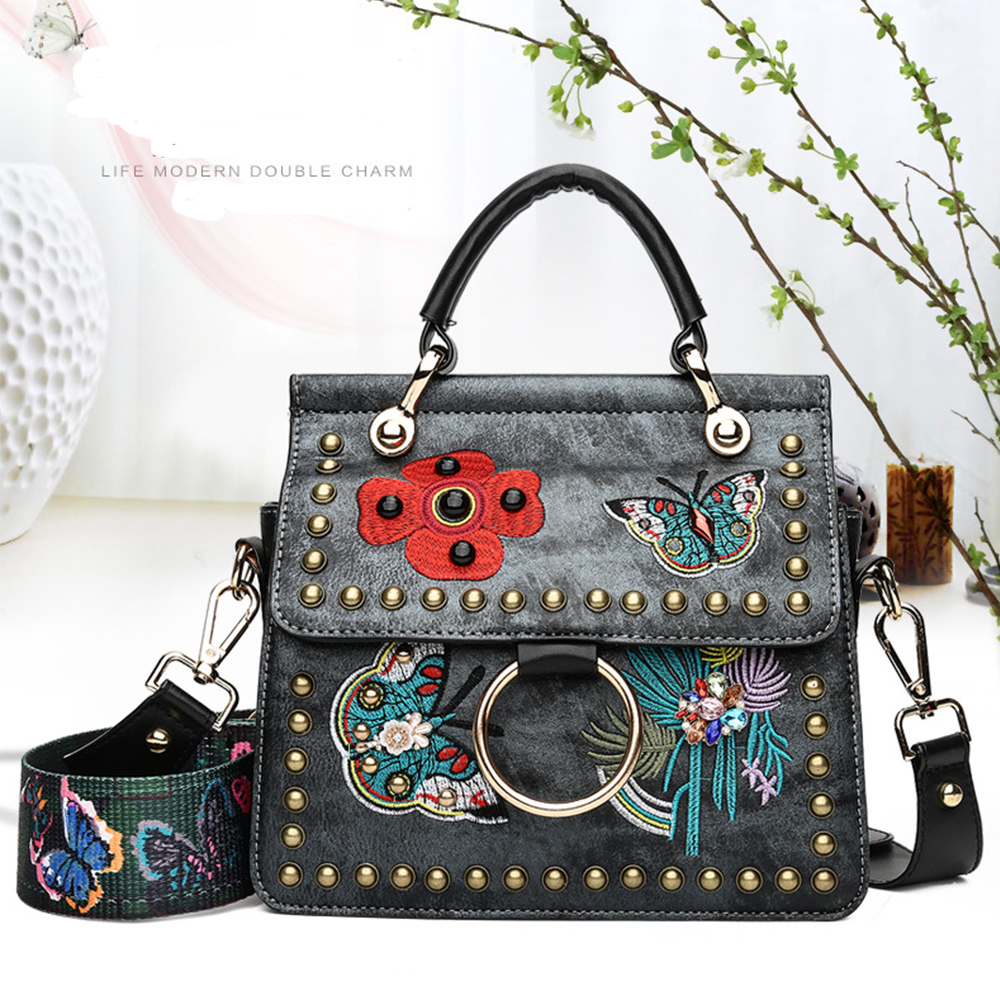 Women Handbags Fashion Shoulder Femme Lady Bags 2018 Brand Original Design PU Bucket Bags Animal Embroidery Bags Famous Brands цена