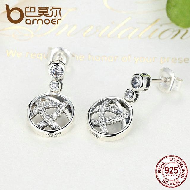 Sterling Silver Openwork Femme Drop Earrings