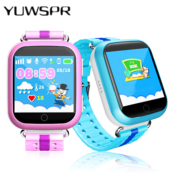 Kids Tracker Watches Q100 Touch Screen Wristwatches SOS Call Finder Locator Tracker Children's Watch Q750