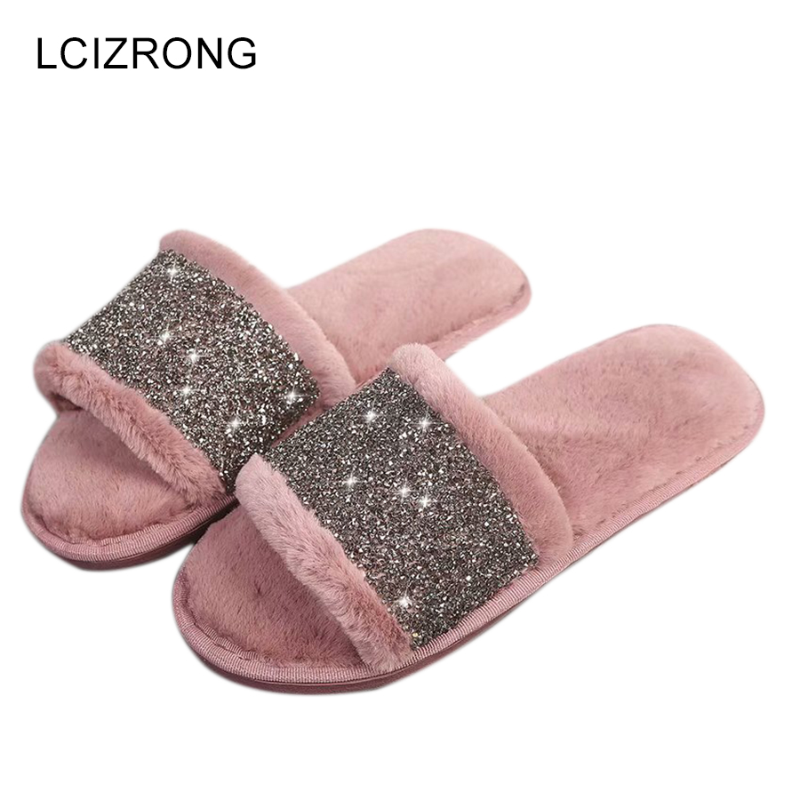 LCIZRONG 2019 Comfortable Women House Slippers Spring Faux