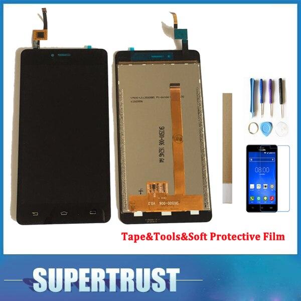 1280*720 5,0 para Philips S326 pantalla LCD con Sensor táctil montaje de cristal Color negro con herramientas y cinta y película protectora suave