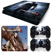 Uncharted 4 Skin Sticker Cover For PS4 Slim Console