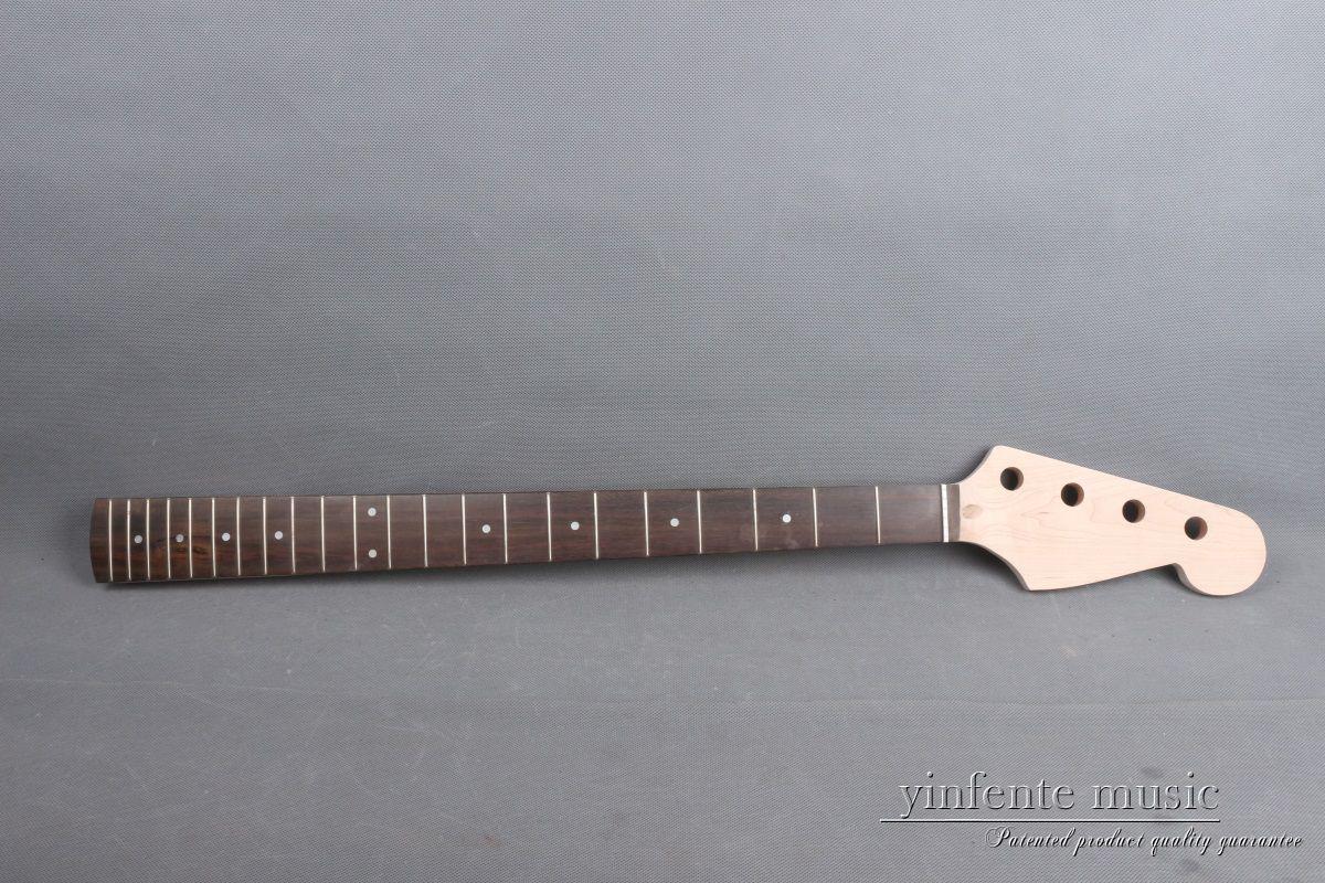 1x guitare électrique basse cou remplacement 34 pouces 22 Fret érable bois palissandre Fretboard botte tige Yinfente