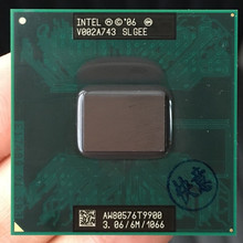 Intel Core 2 Duo T9900 CPU 6M Cache/3.06GHz/1066/Dual Core  Processor Socket P SLGEE CPU Working 100%