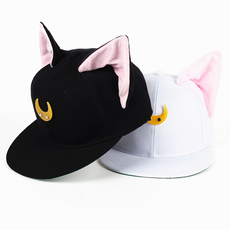YUNICA 2017 new design hot winter children baseball cap cat ears devil hat splicing moon ear hat boy girl warm winter hat unisex women warm winter baggy beanie knit crochet oversized hat slouch hot cap y107