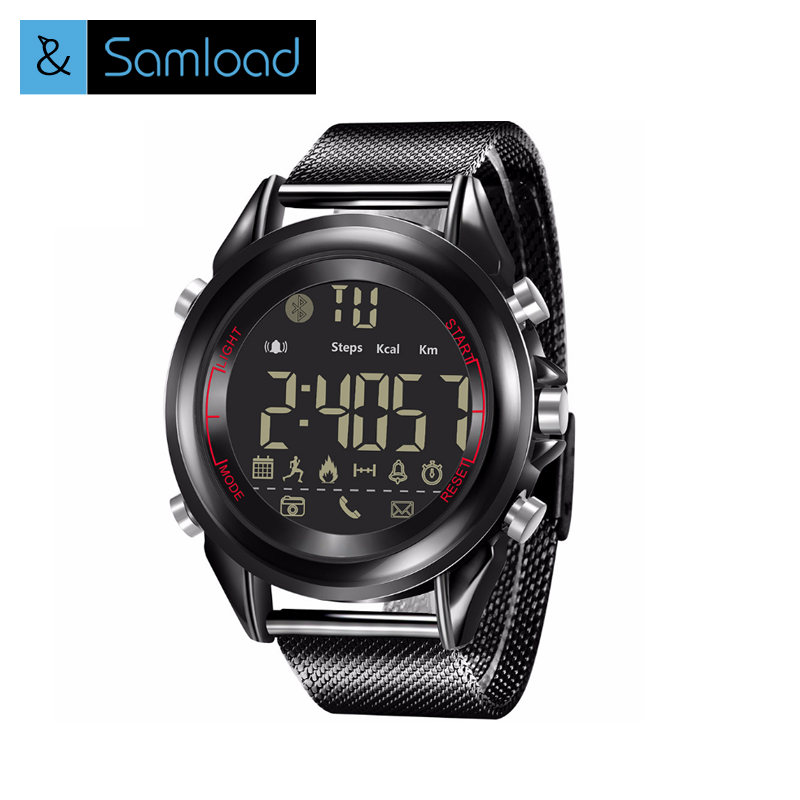 Samload Sport Smart Watch King Kong 5ATM IP68 impermeable Passometer Ultra-larga espera 33 meses Smartwatch para Android iOS