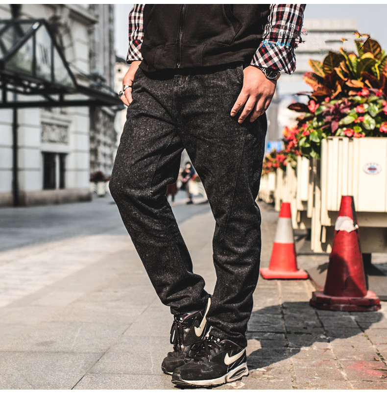 Large Waist Black Baggy Jeans Men Relaxed fit Tapered Jeans Denim Palazzo Pants Big Size 46 44 Casual Loose Style Jeans trousers