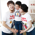 Новое семейство подбора цветов рубашки мать и дочь соответствующие одежда хлопок письмо характер печать с коротким рукавом футболки