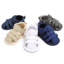 New Canvas Jeans New Baby classic Child Summer Boys Fashion Sandals Sneakers Infant Shoes 0-18 Month Baby Sandals Y13(China)