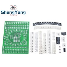 DIY Kit SMD Rotating Flashing LED Components Soldering Pract