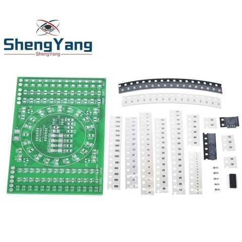 DIY Kit SMD Rotating Flashing LED Components Soldering Practice Board Skill Electronic Circuit Training Suite Electronic DIY Kit Pakistan