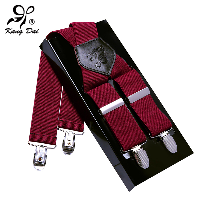 Kangdai fashion adjustable man suspenders galluses/tirantes/bretelles with X back and strong-clips for trousers suspendersMCX403