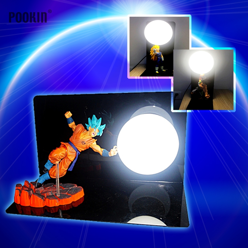 Hot Dragon Ball Son Goku Strength Bombs Luminaria Led Night Table Lamp Holiday Gift Room Decorative Led Lighting In EU US Plug 2018 3m 220v 20pcs car models night lamp kid children room decor paper string lighting holiday lights eu uk plug luminaria