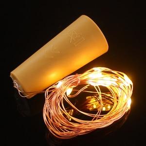 Image 5 - 2M 20 LED Copper Wire String Light with Bottle Stopper for Glass Craft Bottle Wedding Decoration Christmas string lights