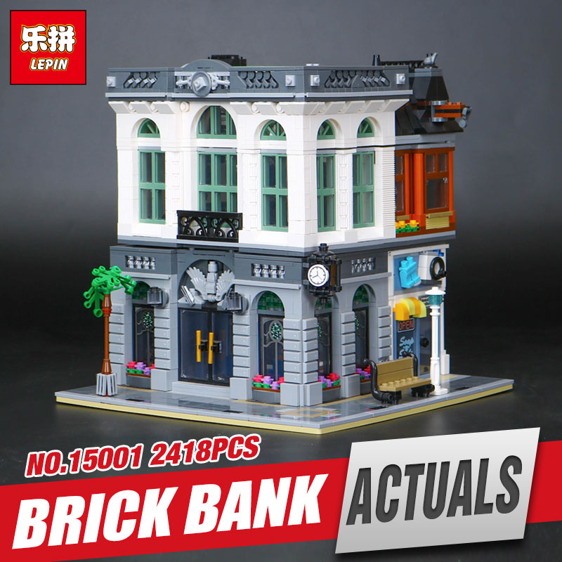 New LEPIN 15001 2413Pcs Brick Bank Model Educational Building Kids Blocks Bricks Funny Toy Compatible With 10251 for Gift 2016 neue lepin 15001 2413 stucke creator ziegel bank modellbau kits blocks bricks spielzeug kompatibel junge brithday geschenk