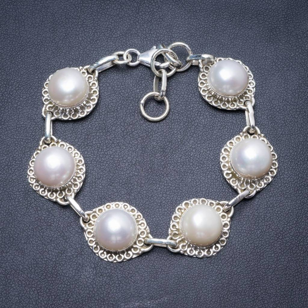 Natural River Pearl Handmade Unique 925 Sterling Silver Bracelet 7 1/4-8 1/4 Y2894 соус паста pearl river bridge hoisin sauce хойсин 260 мл