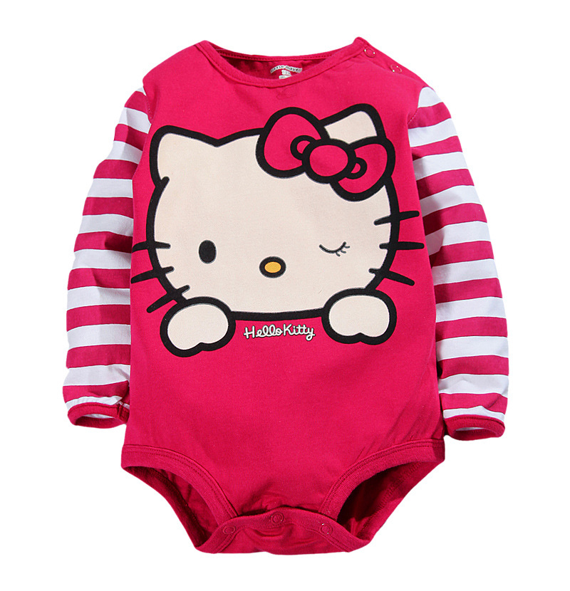 girl clothes cleb jumpsuit cotton o-neck hello kitty totoro romper Newborn rompers fashion baby baby girl clothes romper hello kitty jumpsuit kids clothes newborn conjoined creeper gentleman baby costume dress 3pcs new 2016