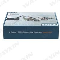 2018 New 2PCS 1200m Bluetooth Intercom Headset 6 Riders Handsfree V6 Waterproof Motorcycle Interphone Support Stereo