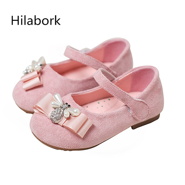 2017 spring new children's shoes diamond girl's shoes sweet shallow mouth bow bow shoes soft bottom soft surface shoes