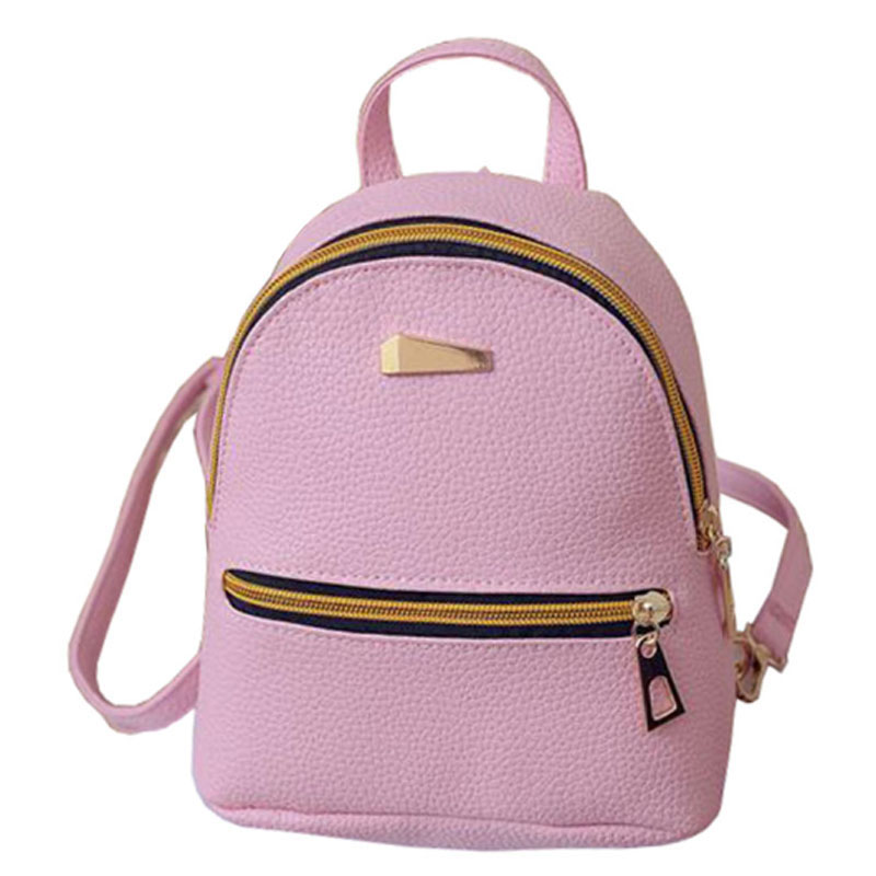 Preppy Style Backpack Women PU Leather Backpacks For Teenager Girl School Bags Fashion simple Solid Shoulder Bags WM78Z mochila