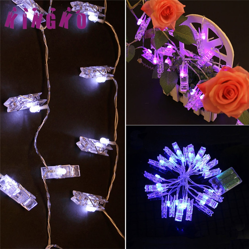 Kingko holiday lighting string 2.2M 20LED Photo Clip Light String Christmas Wedding Festival Decorative Light l7106 DROP SHIP