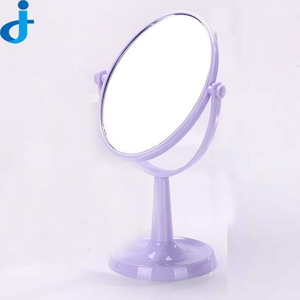 Makeup Stand Mirror Comestic Rotating Table Mirrors Ladies Plastic Desktop  Dresser Miroir Women Espelho De Maquiagem