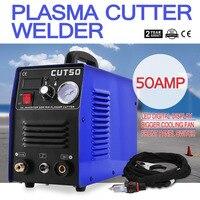 BuoQua Plasma Cutter Cutting 50A Digital Inverter Welder Cutting Machine 220V Welding Machine with Cutting Torch (CUT 50)