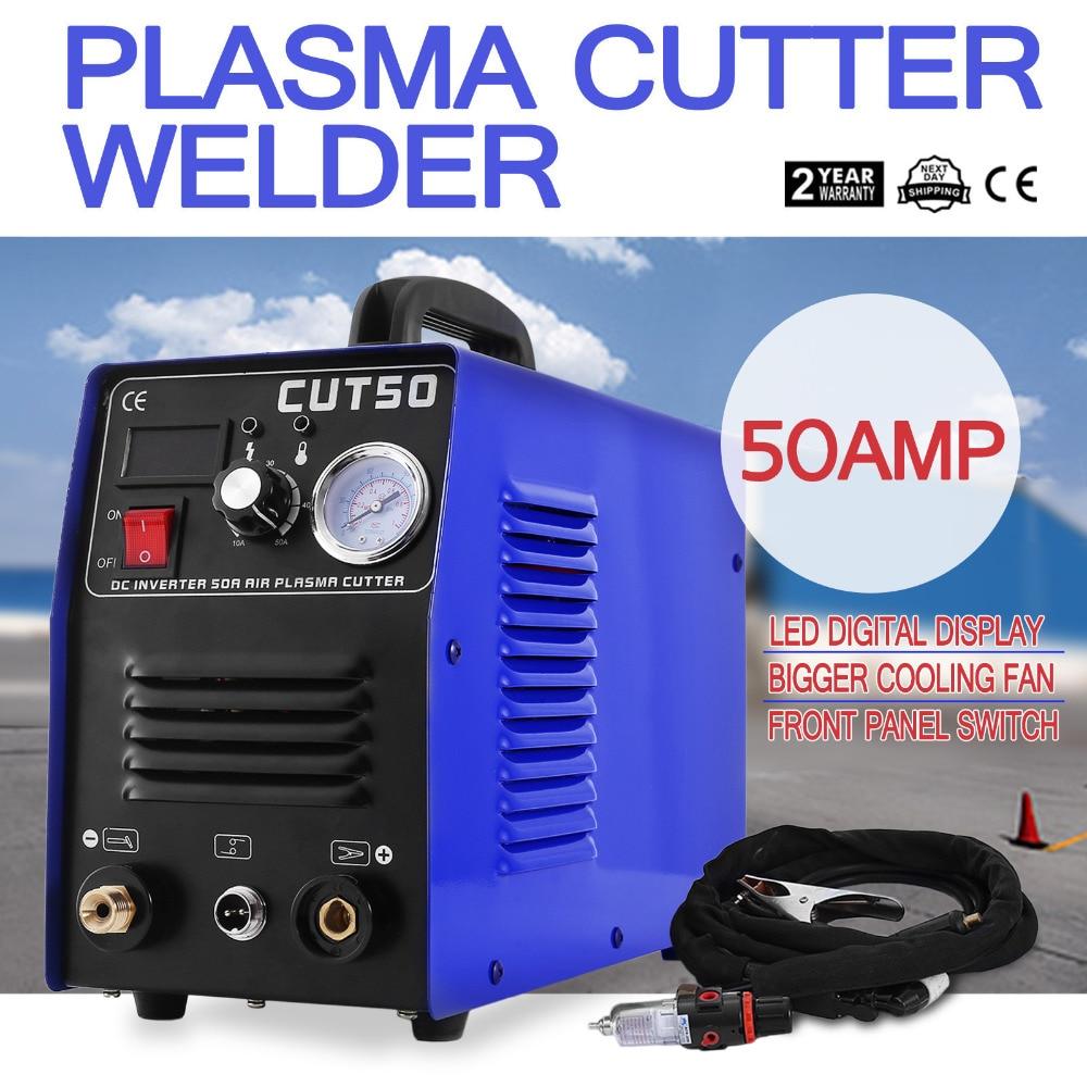 BuoQua Plasma Cutter Schneiden 50A Digital Inverter Schweißer Schneiden Maschine 220 v Schweißen Maschine mit Schneiden Taschenlampe (CUT- 50)