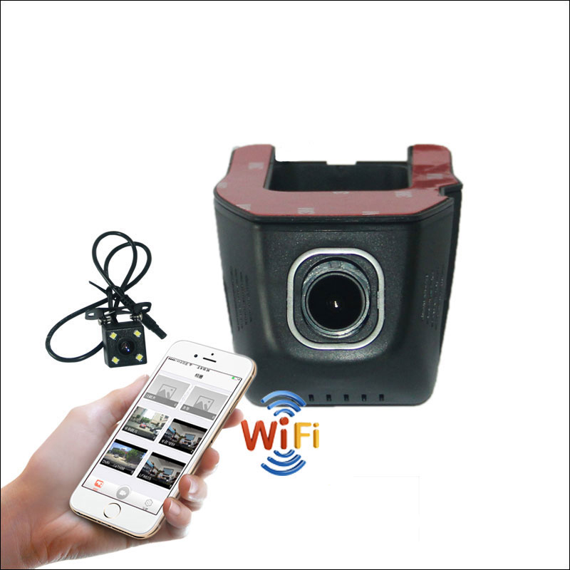 BigBigRoad For TOYOTA Auris APP Control Car Wifi DVR Car Dash Cam Novatek 96655 WDR Dual lens FHD 1080P Car Black Box junsun wifi car dvr camera video recorder registrator novatek 96655 imx 322 full hd 1080p dash cam for volkswagen golf 7 2015