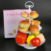 AMW 3 Tier Cake Stand Wedding Birthday Party Metal Display Tray Fruit Cupcake Plate