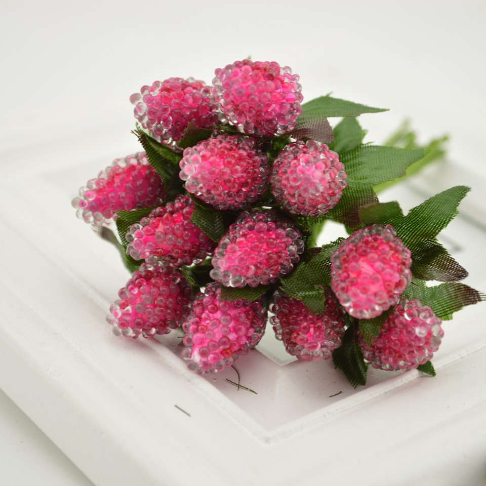 12pcs Artificial Strawberry Flower Bouquet For Home Party Wedding ...