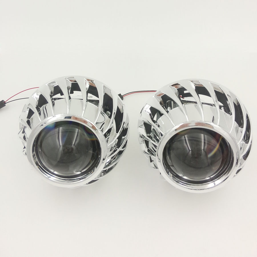 Inch Bi Xenon Hid Ultimate Lens Projector Headlight Headlamp Retrofit With Spirals Cover Shrouds H
