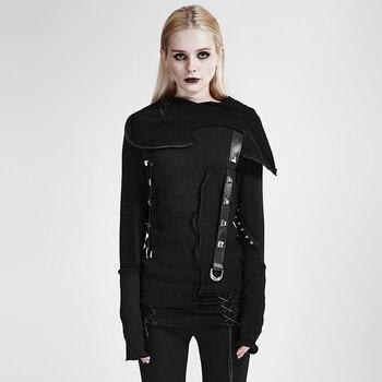 Punk Street Decadent Thread Stitching More Layers Knitted Sweater With Hood Goth Dark Ninja Cardigans Women Black Sweater Tops decadent