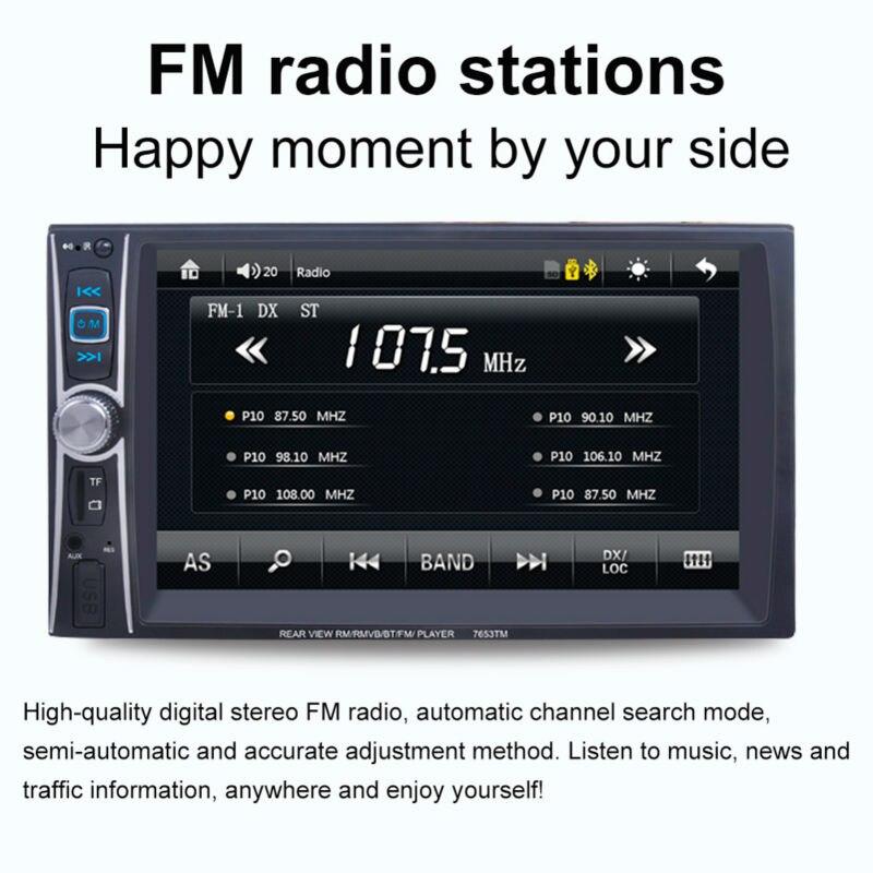Автомобильный MP5 плеер FM/USB/AUX Универсальный Автомобильный MP5 плеер Bluetooth горячая Распродажа MP5 плеер сенсорный экран для аксессуаров
