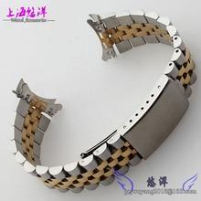 Reloj accesorios disponibles di tong inoxidable acero lleno de la correa de acero completo de oro de arco primero 20 mm