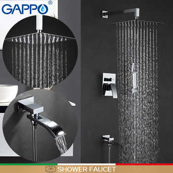 GAPPO Shower Faucet stainless steel shower mixer tap waterfall bath tap mixer bath shower head wall mount rainfall shower set - DISCOUNT ITEM  52% OFF All Category