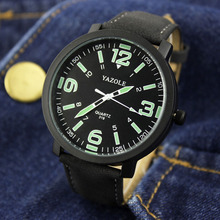 YAZOLE Marca de topo Homens Relógio de Pulso Relógio de Forma Dos Homens Luminosos Assistir Relógio do Esporte Dos Homens Relógios relogio masculino reloj hombre