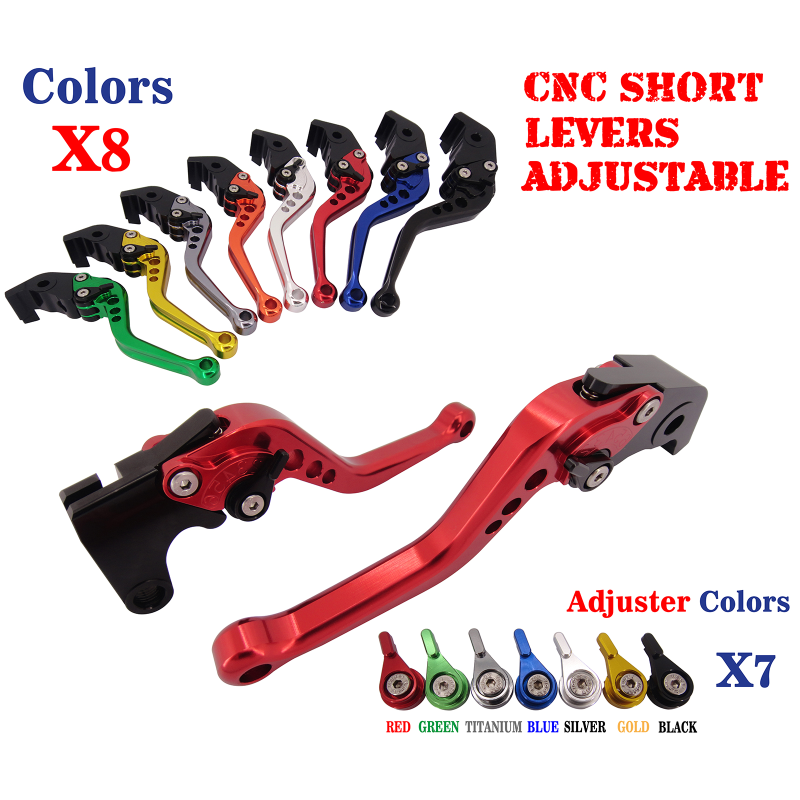 Adjustable CNC Short Brake Clutch Levers For Suzuki SV650/S/N 1999-2010 DL650/V-Strom GSX600F/750F GSX-R750 RGV250 Gamma adjustable short straight clutch brake levers for suzuki rgv 250 rgv250 gsx 600 f gsx600f sv 650 n s gsx r 750 w 1990 1995