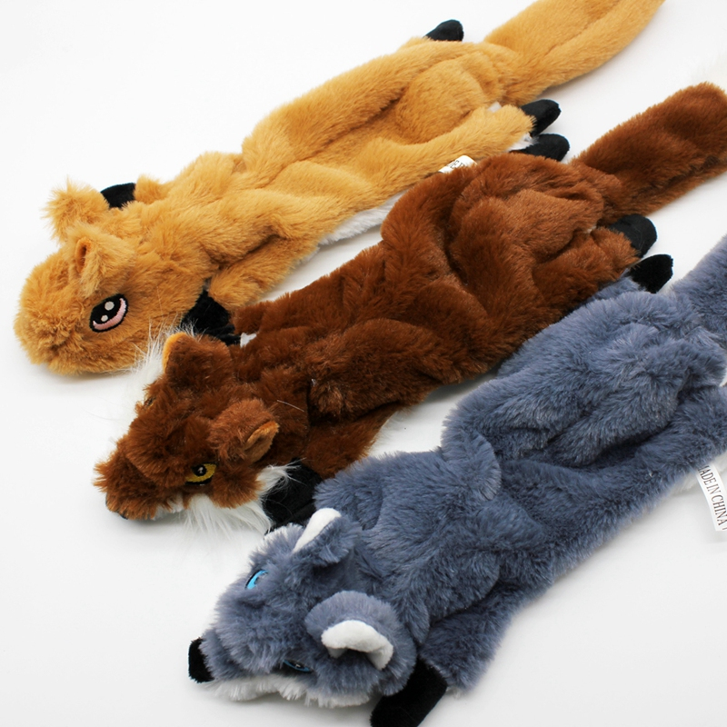 Cute Plush Toys Squeak For Dogs Chew Squeaker Pet Squeaky Animal Shaped Toy Squirrel  Dog Cat Toy Pet Supplies 11
