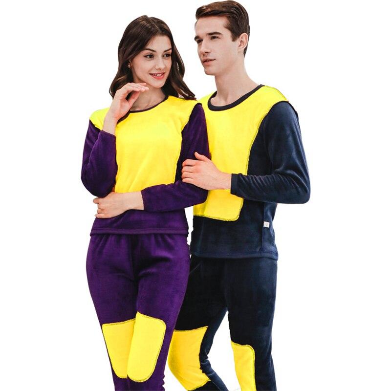 Homme sous-vêtement thermique Long Johns ensembles polaire épais solide hiver intérieur porter des vêtements taille L à XXXL