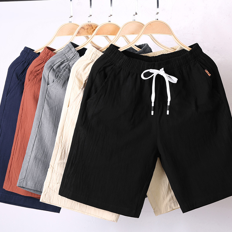 MRMT 2020 Brand New Men'S Shorts Casual  Cotton And Linen Short Pants For Male Five Scanties Cent Pants Breeches