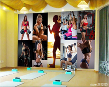 beibehang papier peint 3d wallpaper Fashion high quality wallpaper beautiful woman photo studio gym background papel de parede