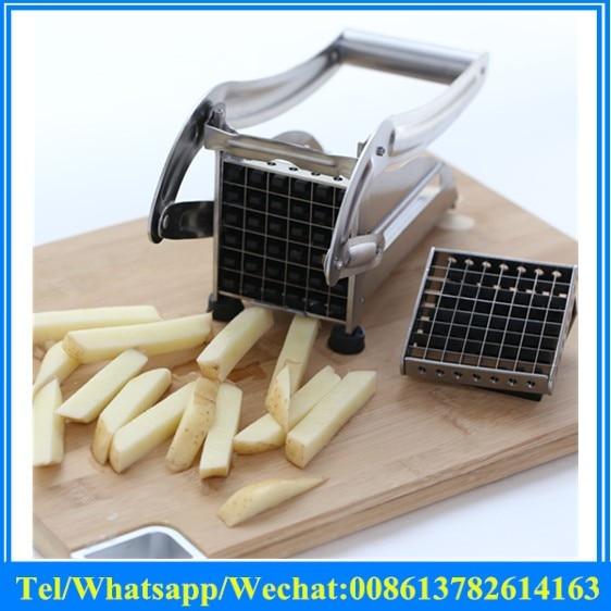 Household Potato Strip Cutting Machine Manual Potato Chips Cutter Stainless Steel Mini Cutting Potato Machine