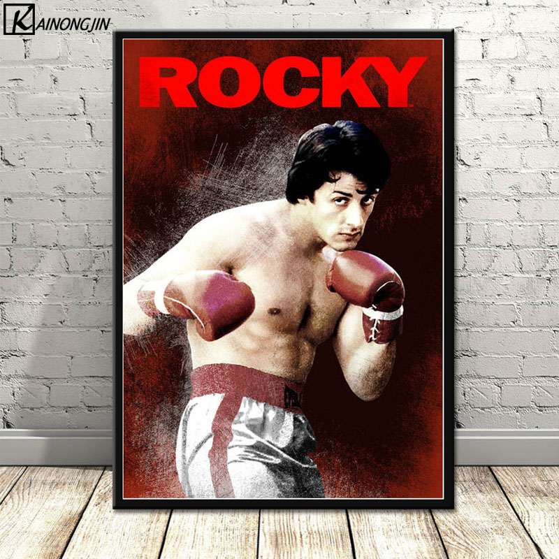 Poster Rocky Balboa Boxing Hot Movie Stallone Posters And Prints Canvas Painting Wall Art Picture For Living Room Home Decor