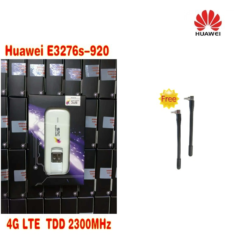 HUAWEI E3276s-920 4G LTE TDD2300MHZ 150M usb dongle 4G 150M unlocked MODEM Plus 2pcs antenna