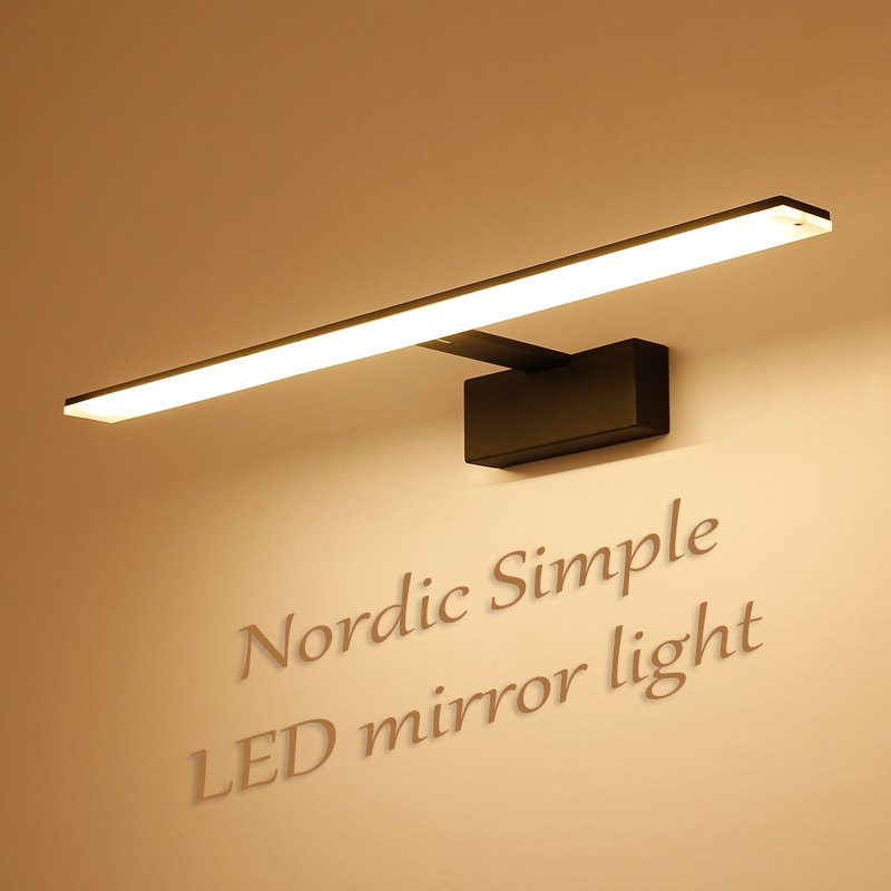 Nordic led bathroom lamp black&white mirror light acrylic metal fixtures barbershop hotel toilet cabinet wall lamp wall sconce