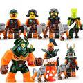 7 unids conjunto ninjagos cielo pirata skybound nadakhan dogshank clancee marvel figuras juguetes decool bloques de construcción de regalo de navidad