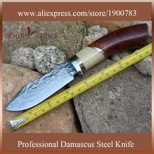 Survival knife damascus steel blade camping knife stainless steel knife fixed blade hunting knife caza faca cs go navajas DT120
